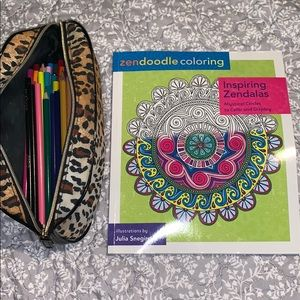 Other - Zendala Coloring w/ Many Colored Pencils